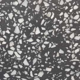 Gem Black Honed HD Terrazzo