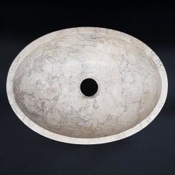 Bianca Perla Honed Oval Basin Limestone 3003
