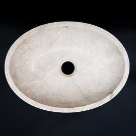 Bianca Perla Honed Oval Basin Limestone