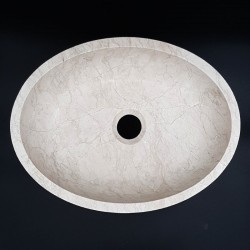 Bianca Perla Polished Oval Basin Limestone 3006
