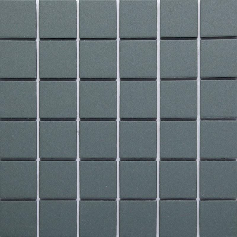 Green Matt Sheeted Paper Faced Mosaic Porcelain Tile 50x50