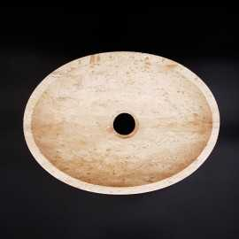 Classico Honed Oval Basin Travertine 3071