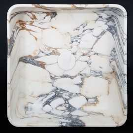 Calacatta Oro Honed Square Marble Basin 3016