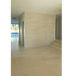 Crema Luminous Limestone Tile - Honed 600x300 - Wall: Chiseled Stone