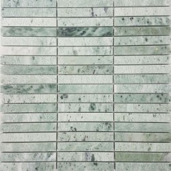 Green Celest Kit Kat Honed Marble Mosaic 15x98