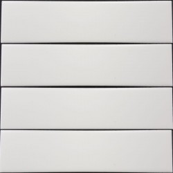 White Gloss Non-Rectified Subway Ceramic 200x50