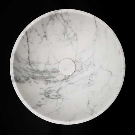 Carrara Honed Round Basin Marble