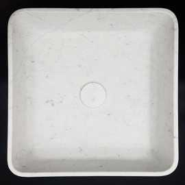Carrara Honed Square Marble Basin 3031
