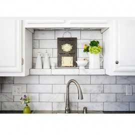 Serene Honed Subway Sheeted Marble Mosaic