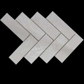 Sparta Herringbone Honed Marble Mosaic