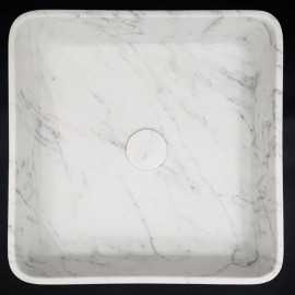 Carrara Honed Square Marble Basin 3032
