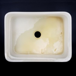 White Onyx Honed Rectangle Basin 3182