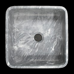 Crystal Grey Honed Square Basin Marble 1001