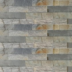 Blue Quartz Z Panel Stacked Stone