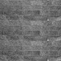 Black Quartz Z Panel Stacked Stone