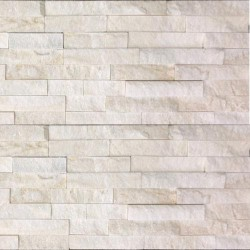 White Quartz Z Panel Stacked Stone