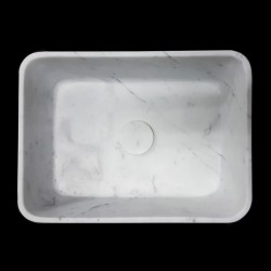 Carrara Honed Rectangle Marble Basin 3060