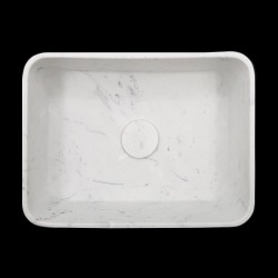 Carrara Honed Rectangle Marble Basin 3061