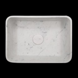 Carrara Honed Rectangle Marble Basin 3062