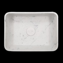 Carrara Honed Rectangle Marble Basin 3063