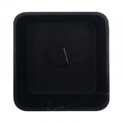 Nero Marquina Honed Square Marble Basin 3080