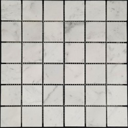 Carrara Honed Marble Mosaic 48x48