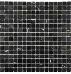 Nero Marquina Polished Marble Mosaic 15x15