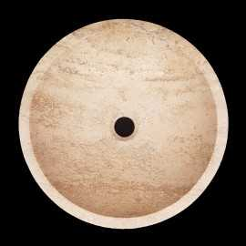 Noce Honed Round Basin Travertine 3102