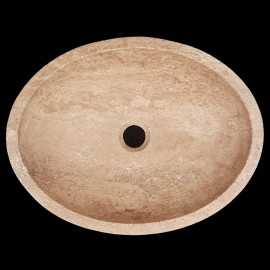 Noce Honed Oval Basin Travertine 3111