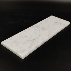 Carrara Honed Half Bullnose Skirting Marble