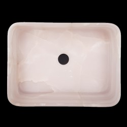 Pink Onyx Honed Rectangle Basin 3176