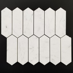 Carrara Picket Honed Marble Mosaic