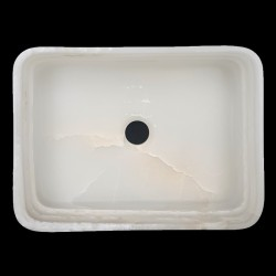 White Onyx Honed Rectangle Basin 3184