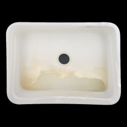 White Onyx Honed Rectangle Basin 3185