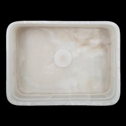 White Onyx Honed Rectangle Basin 3186