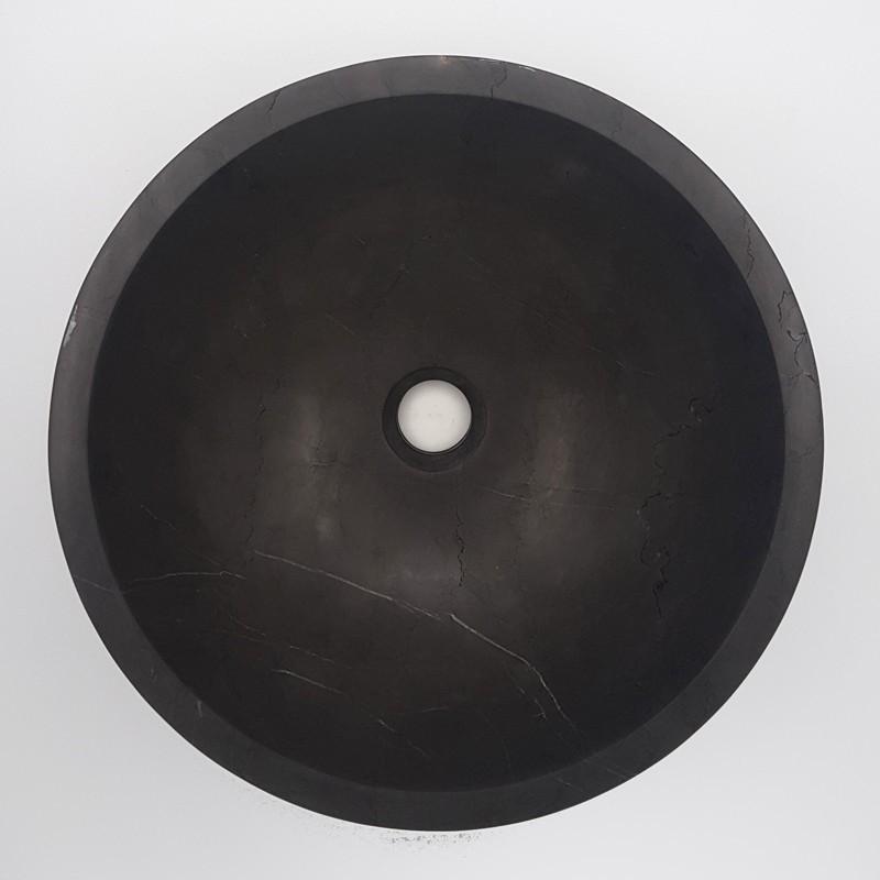 Pietra Grey Honed Round Basin Limestone 3120