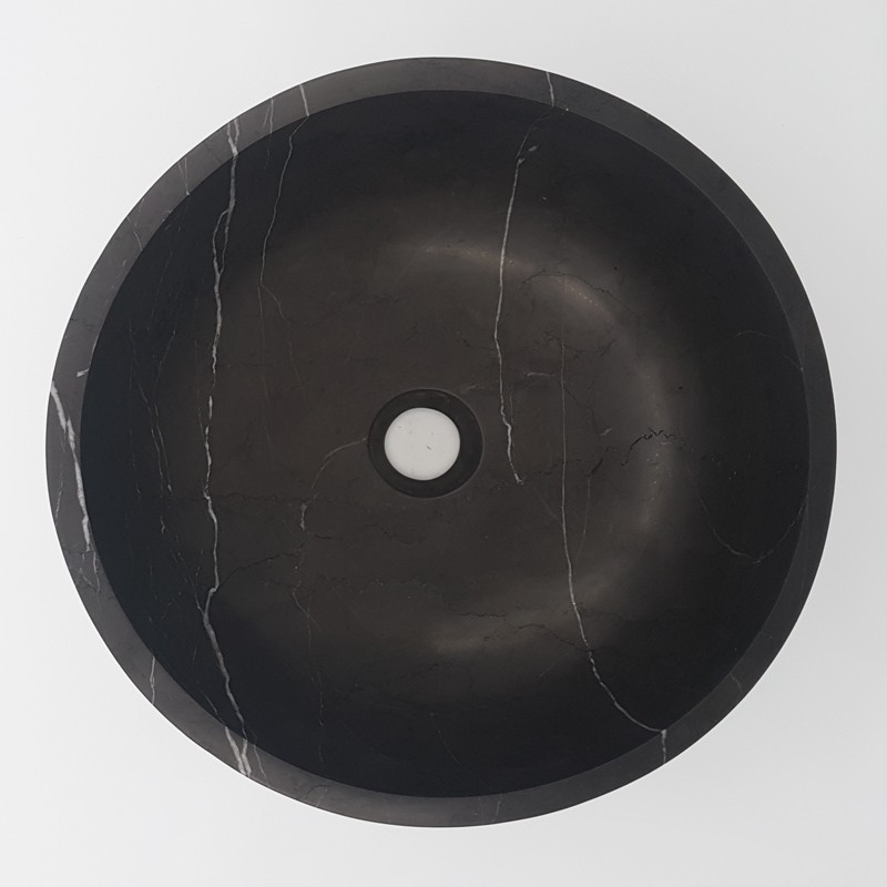 Pietra Grey Honed Round Basin Limestone 3124