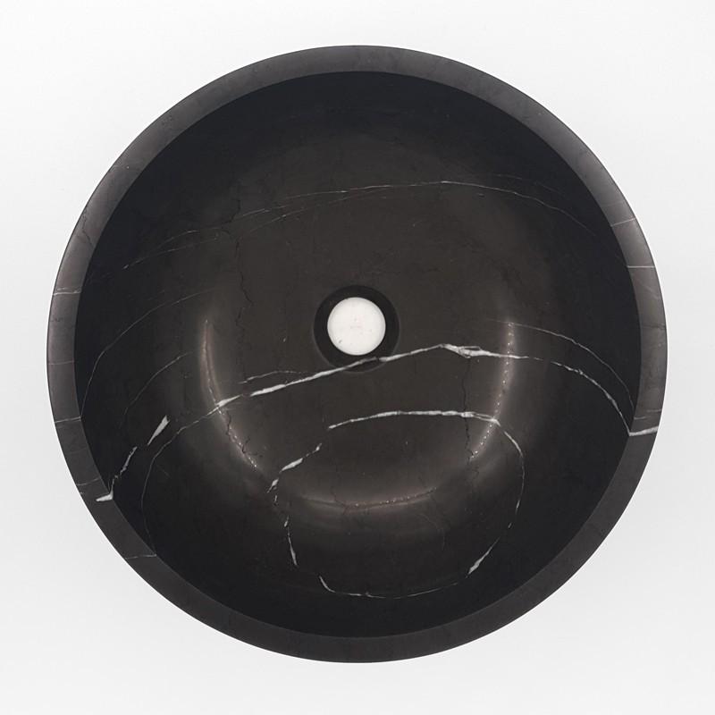 Pietra Grey Honed Round Basin Limestone 3132
