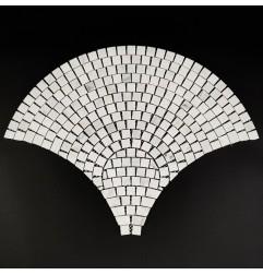 Carrara Fish Scale Fan Shaped Large Honed Marble Mosaic