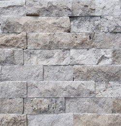 Silver Travertine Splitface Wall Cladding