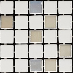 Trend Liquid White Mix 1100/409 Italian Glass Mosaic Tiles