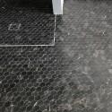 Nero Marquina Hexagon Honed Marble Mosaic