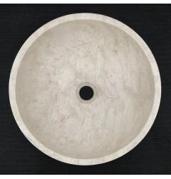 Bianca Perla Honed Round Basin Limestone 3244