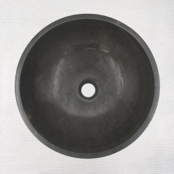 Pietra Grey Honed Round Basin Limestone 3294
