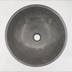 Pietra Grey Honed Round Basin Limestone 3295