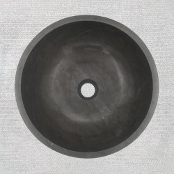 Pietra Grey Honed Round Basin Limestone 3296