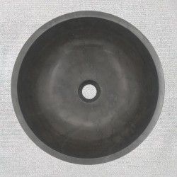 Pietra Grey Honed Round Basin Limestone 3297