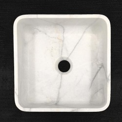 Persian White Honed Square Basin Marble 3302