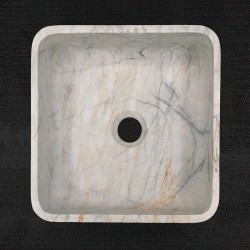 Persian White Honed Square Basin Marble 3305