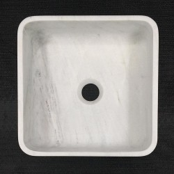 Persian White Honed Square Basin Marble 3306